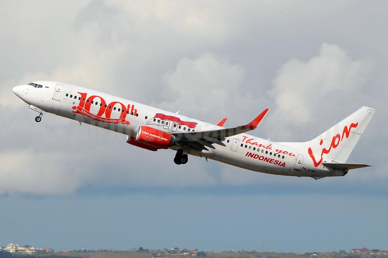 Lion Air (PT Lion Mentari Airlines) Boeing 737-9GP ER WL PK-LOF (msn 38741) (100th Boeing Next-Generation 737) DPS (Marco Finelli). Image: 942556.