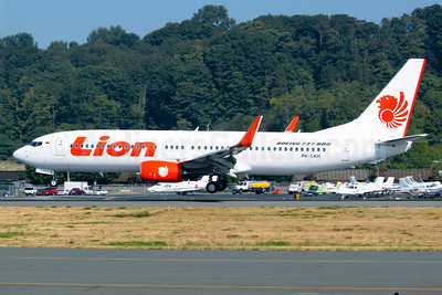 Lion Air (PT Lion Mentari Airlines) Boeing 737-8GP WL PK-LKH (msn 37297) BFI (Joe G. Walker). Image: 913230.