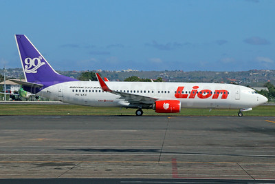 Lion Air (PT Lion Mentari Airlines) Boeing 737-8U3 WL PK-LKV (msn 40807) (90th Boeing  Next-Generation  737) DPS (Michael B. Ing). Image: 923951.