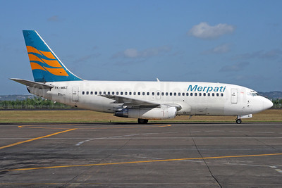 Merpati Nusantara Airlines Boeing 737-228 PK-MBZ (msn 23007) DPS (Michael B. Ing). Image: 926973.