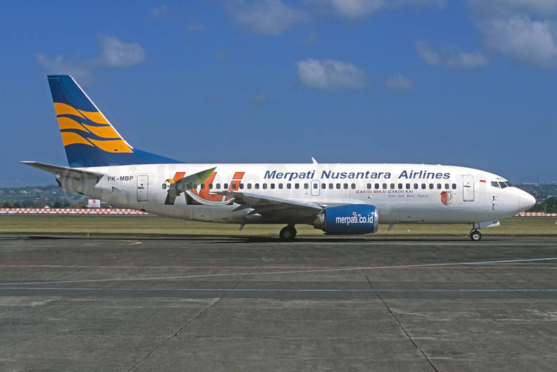 Merpati Nusantara Airlines Boeing 737-33A PK-MBP (msn 23632) (KLI) (Christian Volpati Collection). Image: 922718.