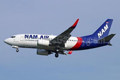 NAM Air Boeing 737-524 WL PK-NAS (msn 27334) (Sriwijaya Air colors) CGK (Michael B. Ing). Image: 934013.
