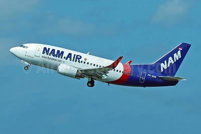 NAM Air Boeing 737-524 WL PK-NAK (msn 27332) (Sriwijaya Air colors) DPS (Pascal Simon). Image: 943375.
