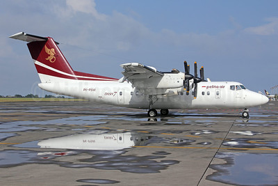Pelita Air Service de Havilland Canada DHC-7-102 Dash 7 PK-PSW (msn 100) DPS (Michael B. Ing). Image: 923969.