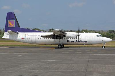 Riau Airlines - The Spirit of Riau Fokker F.27 Mk. 050 PK-RAM (msn 20271) DPS (Michael B. Ing). Image: 927141.