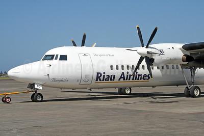 Riau Airlines - The Spirit of Riau Fokker F.27 Mk. 050 PK-RAL (msn 20282) DPS (Michael B. Ing). Image: 927139.