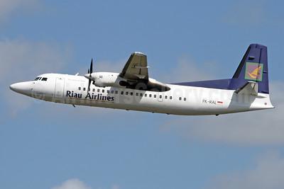 Riau Airlines - The Spirit of Riau Fokker F.27 Mk. 050 PK-RAL (msn 20282) DPS (Michael B. Ing). Image: 927138.
