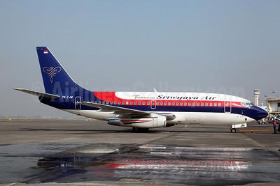 Sriwijaya Air Boeing 737-2B7 PK-CJM (msn 22884) (Indonesia 2008) SUB (John Adlard). Image: 907369.