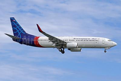 Sriwijaya Air Boeing 737-8Q8 WL PK-CMI (msn 28214) DPS (Pascal Simon). Image: 943896.