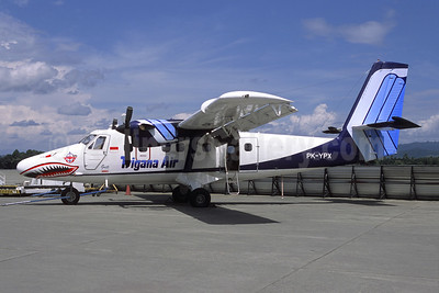 Trigana Air Service de Havilland Canada DHC-6-300 Twin Otter PK-YPX (msn 684) SUB (Jacques Guillem Collection). Image: 945693.