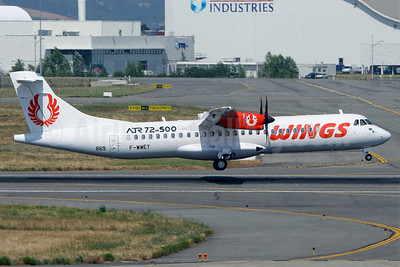 Wings Air (Indonesia) ATR 72-212A (ATR 72-500) F-WWET (PK-WFF) (msn 869) TLS. Image: 903271.