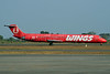 """Wings' special red """"Fly is Cheap"""" livery"""