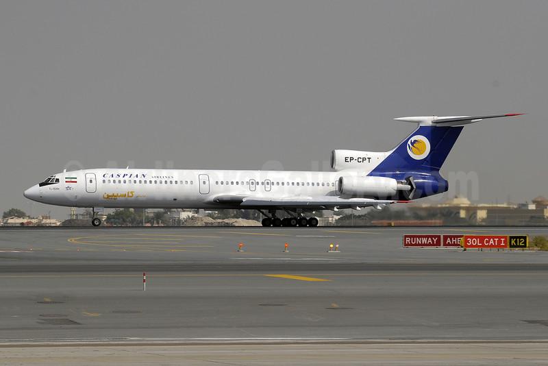 Caspian Airlines Tupolev Tu-154M EP-CPT (msn 93A964) DXB (Paul Denton). Image: 909394.