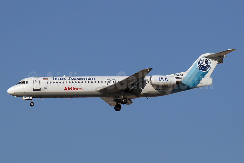 Iran Aseman Airlines Fokker F.28 Mk. 0100 EP-ASI (msn 11519) DXB (Paul Denton). Image: 913596.