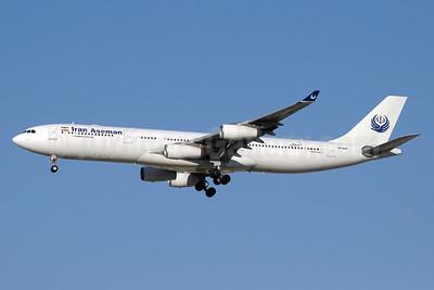 Iran Aseman Airlines Airbus A340-311 EP-APA (msn 002) DXB (Paul Denton). Image: 109310.