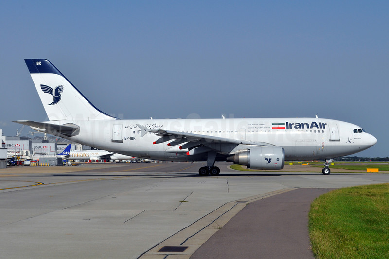 IranAir-The Airline of the Islamic Republic of Iran Airbus A310-304 EP-IBK (msn 671) LHR (Dave Glendinning). Image: 912941.