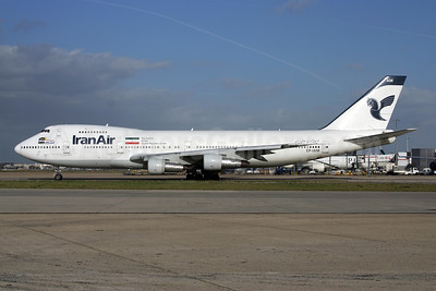 IranAir-The Airline of the Islamic Republic of Iran Boeing 747-186B EP-IAM (msn 21759) LHR (SPA). Image: 944666.