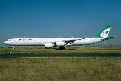 Mahan Air Airbus A340-642 EP-MMQ (msn 449) CDG (Jacques Guillem). Image: 936281.