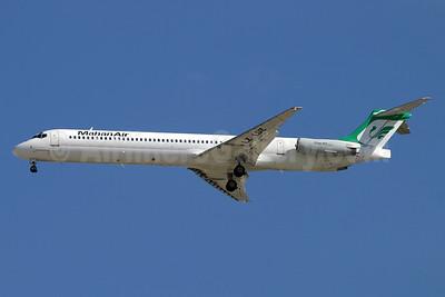 Mahan Air-Bulgarian Air Charter McDonnell Douglas DC-9-83 (MD-83) LZ-LDZ (msn 49930) DXB (Konstantin von Wedelstaedt). Image: 910566.