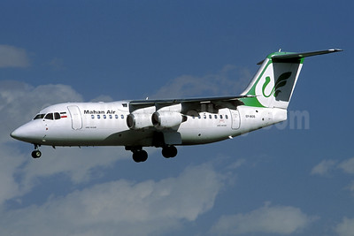 Mahan Air BAe RJ85 EP-MOS (msn E2347) (Jacques Guillem Collection). Image: 936802.
