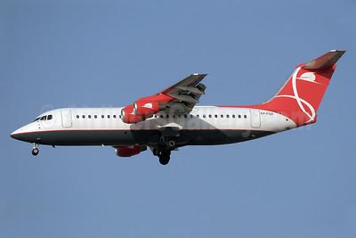 Qeshm Airlines BAe RJ100 EP-FQX (msn E3356) DXB (Paul Denton). Image: 926882.