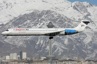 "Zagros Air (Khors Aircompany) McDonnell Douglas DC-9-82 (MD-82) EP-ZAM (msn 49490) THR (Shahram ""Shary"" Sharifi). Image: 911421."