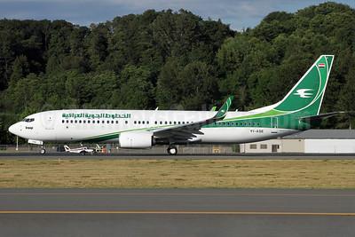 Iraqi Airways Boeing 737-81Z WL YI-ASE (msn 40104) BFI (Duncan Kirk). Image: 912750.