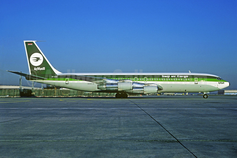 Iraqi Air Cargo Boeing 707-370C YI-AGE (msn 20889) MUC (Jacques Guillem Collection). Image: 929544.
