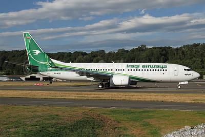 Iraqi Airways Boeing 737-81Z WL YI-ASE (msn 40104) BFI (Duncan Kirk). Image: 912749.