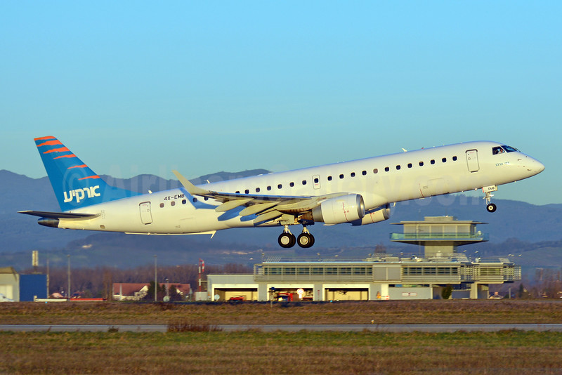 Arkia Airlines Embraer ERJ 190-100LR 4X-EMB (msn 19000616) BSL (Paul Bannwarth). Image: 925952.