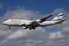 El Al Israel Airlines Boeing 747-412 4X-ELE (msn 26551) LHR (Bruce Drum). Image: 101611.