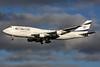 El Al Israel Airlines Boeing 747-412 4X-ELE (msn 26551) LHR (SPA). Image: 930025.