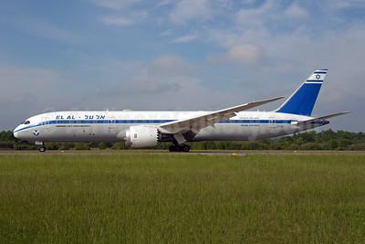 El Al Israel Airlines Boeing 787-9 Dreamliner 4X-EDF (msn 63394) (70th Anniversary) ZRH (Rolf Wallner). Image: 950066.