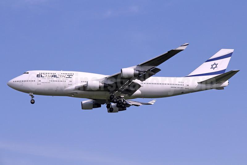El Al Israel Airlines Boeing 747-412 4X-ELH (msn 26555) BKK (Michael B. Ing). Image: 935920.