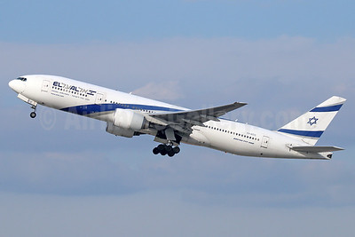 El Al Israel Airlines Boeing 777-258 ER 4X-ECC (msn 30833) LAX (Michael B. Ing). Image: 938456.
