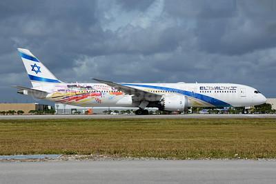 El Al Israel Airlines Boeing 787-9 Dreamliner 4X-EDD (msn 63392) (Las Vegas) MIA (Richard Vandervord). Image: 949086.