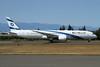 """The first El Al Boeing 787 Dreamliner, delivered on August 22, 2017, named """"Ashdod"""""""
