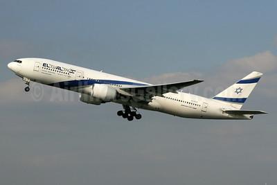 El Al Israel Airlines Boeing 777-258 ER 4X-ECC (msn 30833) LHR (SPA). Image: