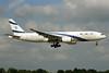El Al Israel Airlines Boeing 777-258 ER 4X-ECB (msn 30832) LHR. Image: 924585.
