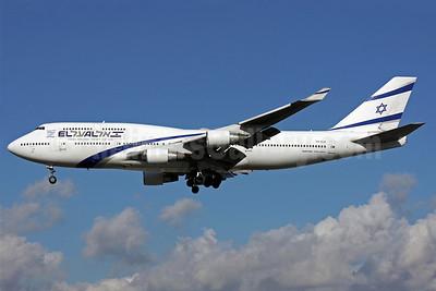 El Al Israel Airlines Boeing 747-458 4X-ELB (msn 26056) LHR (Antony J. Best). Image: 902937.