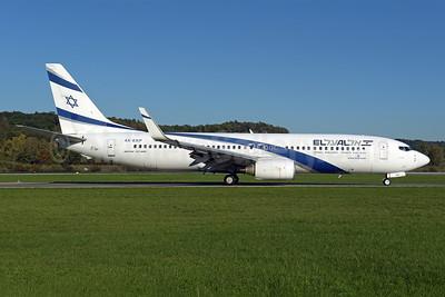 El Al Israel Airlines Boeing 737-8Q8 WL 4X-EKP (msn 30639) ZRH (Rolf Wallner). Image: 943807.