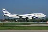 El Al Israel Airlines Boeing 747-458 4X-ELB (msn 26056) LHR (SPA). Image: 925400.