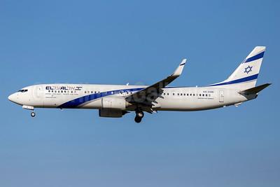 El Al Israel Airlines Boeing 737-958 ER WL 4X-EHB (msn 41553) FCO (Stefan Sjogren). Image: 938455.