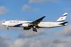 El Al Israel Airlines Boeing 777-258 ER 4X-ECE (msn 36083) LHR (Rob Skinkis). Image: 934279.