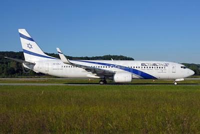 El Al Israel Airlines Boeing 737-85P WL 4X-EKJ (msn 35486) ZRH (Rolf Wallner). Image: 912439.