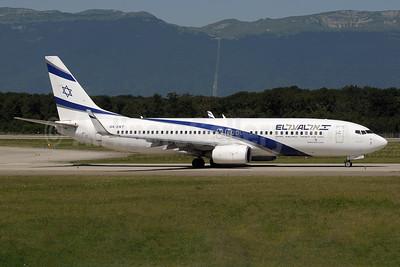 El Al Israel Airlines Boeing 737-8BK WL 4X-EKT (msn 33030) GVA (Paul Denton). Image: 955220.