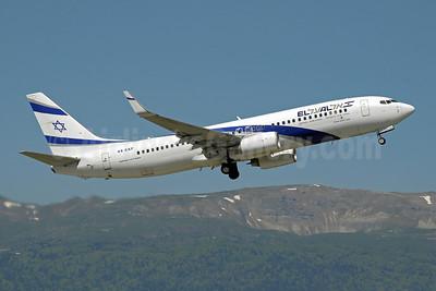 El Al Israel Airlines Boeing 737-8HX WL 4X-EKF (msn 29638) GVA (Paul Denton). Image: 908999.