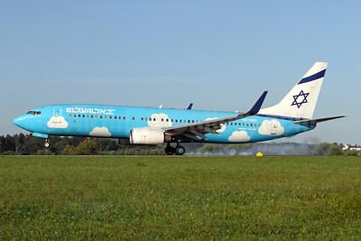 El Al Israel Airlines Boeing 737-86Q WL 4X-EKO (msn 30287) (Up colors) ZRH (Andi Hiltl). Image: 947338.