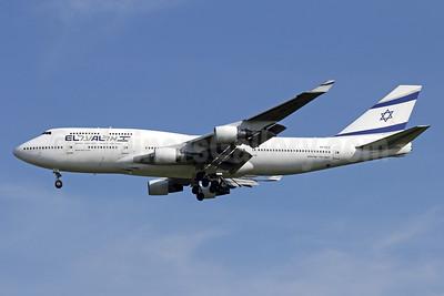 El Al Israel Airlines Boeing 747-412 4X-ELE (msn 26551) BKK (Michael B. Ing). Image: 935921.
