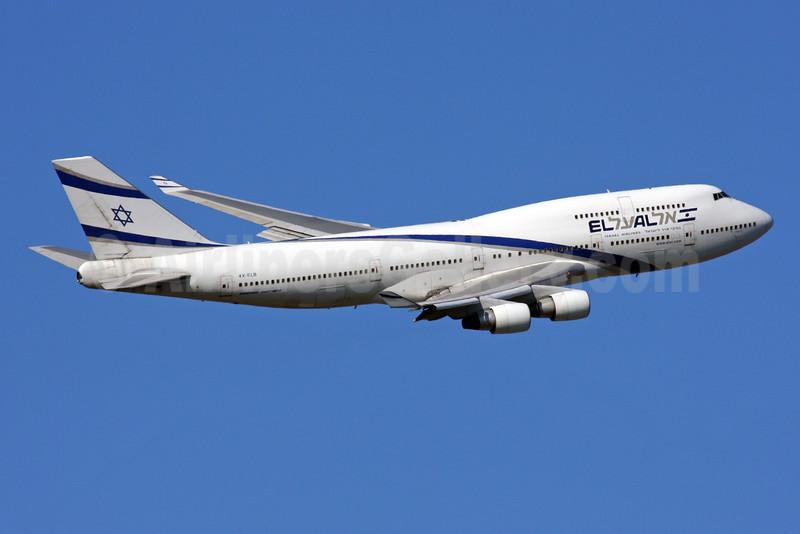 El Al Israel Airlines Boeing 747-458 4X-ELB (msn 26056) LHR (SPA). Image: 924727.